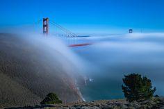 #golden #gate #bridge #fog