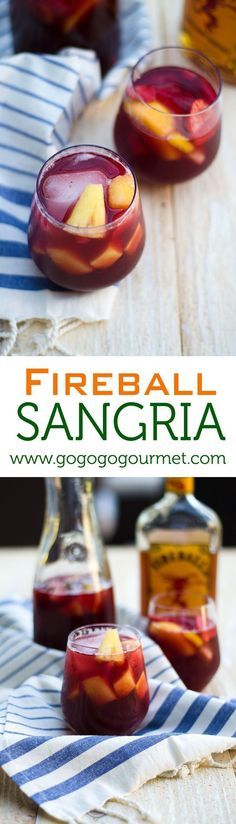 Kick off your summer with the ultimate sangria- featuring Fireball Whiskey for an extra punched up flavor! Unbelievably refreshing, you'll be drinking it till fall! | Go Go Go Gourmet @gogogogourmet