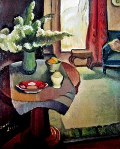 Interior (Roland Wakelin's Sitting Room), c. 1935-40. Dorrit Black (23 December 1891 – 13 September 1951). Australian painter and printmaker of the Modernist school, known for being a pioneer of Modernism in Australia