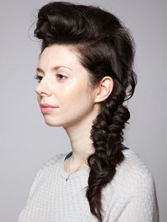 Fishtail plait party hairstyle how-to guide