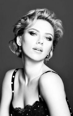 World in Black and white • nourliss:   Scarlett Johansson