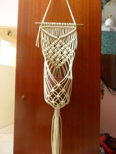 Macrame wall hanging macrame plant hanger by TreesOfHappiness