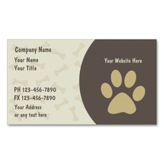 Pet Care Business Cards New. This is a fully customizable business card and available on several paper types for your needs. You can upload your own image or use the image as is. Just click this template to get started!