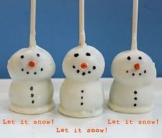 Christmas brownie pops | Christmas Tree Cake Pops and Snowman Brownie Pops... I might be able ...
