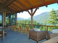 Main floor deck view of lake and Kachess Ridge
