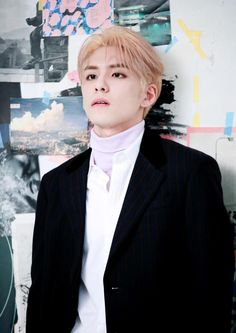 Image about blonde hair in 김원필 WONPIL by Lotta♡☆ Day6, K Pop, Pink Hair, Blonde Hair, Kim Wonpil, Baby Prince, Young K, Pink Sweater, Rock Bands