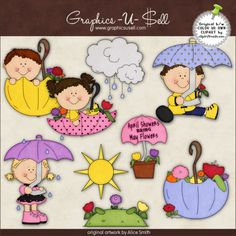 April Showers Bring May Flowers 1 - Clip Art by Alice Smith