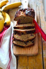 Bolo de Banana e Frutos Vermelhos com Farinha Integral