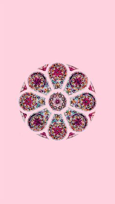 !!TAP AND GET THE FREE APP! Pattern Unicolor Pink Kaleidoscope Flower HD iPhone 5 Wallpaper