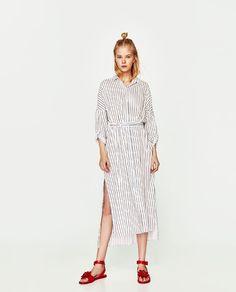 ZARA - WOMAN - STRIPED BELTED DRESS