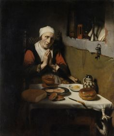 Old Woman Saying Grace, Known as 'The Prayer without End', Nicolaes Maes, c. 1656