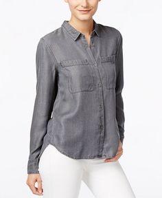 Calvin Klein Jeans Button-Front Long-Sleeve Shirt