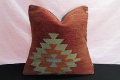 16x16 Kilim Pillow Cover Turkish Kilim Pillow by BlackEeagle
