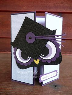 Megumi's Stampin Retreat: Mr. Owl Happy Graduation Card