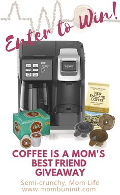 Enter to WIN a Hamilton Beach Flexbrew coffee maker to help take the edge off of Mom life and sleep deprivation! Coffee Brewer, Hot Coffee, Coffee Shop, Moms Best Friend, Best Friends, In Defense Of Food, Ice Pop Maker, Nutrition Plans, Coffee Machine