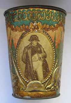 Rare Antique tall round box Einem toffee tin Anniv of 1812 Napoleon War Vintage Tins, Vintage Antiques, Tin Man, Tin Containers, Tin Toys, Rare Antique, Glass Art, Old Things, Confectionery