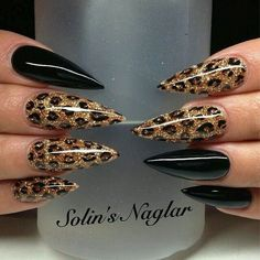 Cool 49 Stylish Leopard And Cheetah Nail Designs That You Will Love. More at http://aksahinjewelry.com/2017/12/19/49-stylish-leopard-cheetah-nail-designs-will-love/ #Coolcatmakeupideas