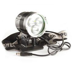 5000Lm 3x CREE XM-L T6 LED Bicycle Bike LED HeadLight Headlamp
