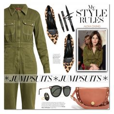 """""""One and Done: Jumpsuits"""" by ansev ❤ liked on Polyvore featuring AlexaChung, Karen Walker, Casadei, Eyeko, CVC Stones and jumpsuits"""