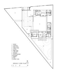 Triangle House by KWK Promes - L2 PLAN | mimari planlar | Pinterest ...