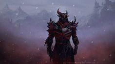 Daedric Armor wallpaper by AlexandrZaborovskiy
