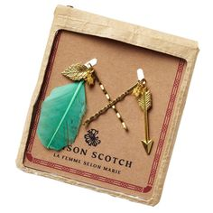 Maison Scotch Green Copper, Scotch Soda, Hair Clips, Marie, Arrow Necklace, Fashion Beauty, Hair Accessories, Shopping, Clothes For Women