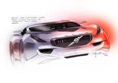 Volvo Sketch by Pedro Guarinon, via Behance