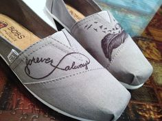 Custom decorated canvas shoes any design or color by MariasHope, $30.00