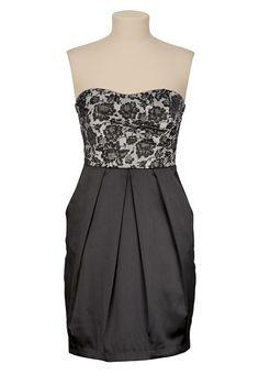 Jacquard Print Tube Dress with Pockets | Maurices.com $49.00