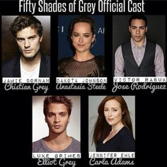 Fifty Shades of Grey Official Movie Cast