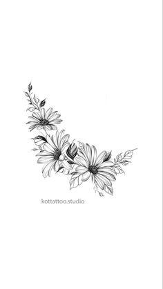 Vine Tattoos, Baby Tattoos, Star Tattoos, Flower Tattoo Drawings, Flower Tattoo Designs, Flower Tattoos, Star Tattoo On Hand, Lotus Flower Wallpaper, Sunflowers And Roses