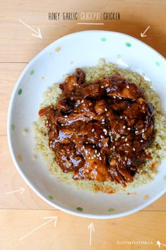 Honey Garlic Crock Pot Chicken :: Flutter Flutter