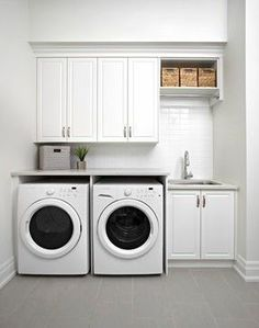 Small laundry room design ideas will certainly assist you to take pleasure in the location around your washer and also clothes dryer. Locate the best ideas for 2018 as well as transform your laundry room design Laundry Room Remodel, Basement Laundry, Farmhouse Laundry Room, Laundry Closet, Laundry Room Organization, Laundry In Bathroom, Organization Ideas, Laundry Storage, Laundry Organizer