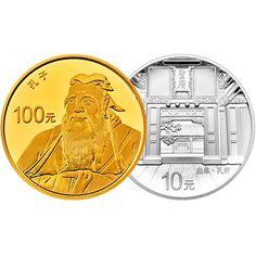 110 Yuan Gold / Silber Welterbe - Konfuzius PP
