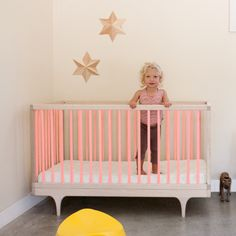 The Caravan Crib is a solid wood crib, that plays with classic form and contemporary, ultra-bold colors. Meets every modern parents' needs.