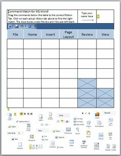 Computer Teachers! In this interactive Microsoft Word lesson, students in grades 3-8 learn where to find some of the more common ribbon commands. Students drag the correct commands to the proper ribbon tabs.  Younger students benefit from trying this activity several times with the goal to be quicker with each attempt. Middle school students enjoy a competition to see who finishes first while working alone or in pairs.  When done, students can print it out and use it as a reference sheet!
