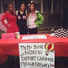Phi Mu gives Hershey Kisses to support Children's Miracle Network