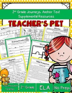 This packet has everything you'll need to enhance your instruction for Teacher's Pet with NO PREP(2nd Grade Journeys Reading Series Unit 1, Lesson 5). These resources meet Common Core State Standards and keep students engaged and having fun! Perfect for the busy teacher!SAVE BIG!