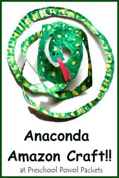 Anaconda Snake Rainforest Craft & Fun Facts!! | Preschool Powol Packets