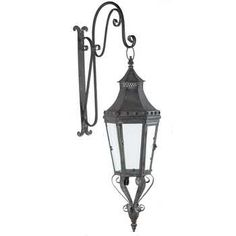 Black Hanging Metal Wall Lantern