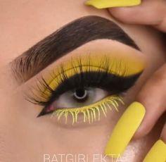 Goth Eye Makeup, Yellow Eye Makeup, Eye Makeup Art, Eyeshadow Makeup, Creative Eye Makeup, Simple Eye Makeup, Eye Makeup Designs, Pinterest Makeup, Makeup Makeover