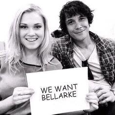 Bobby Morley (Bellamy) & Eliza Taylor (Clarke)