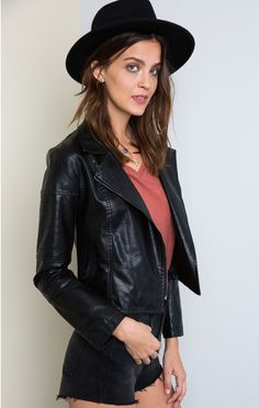 Wild Ride Leather Moto Jacket - ShopLuckyDuck - 4