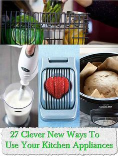 Welcome to living Green & Frugally. We aim to provide all your natural and frugal needs with lots of great tips and advice, 27 Clever New Ways To Use Your Kitchen Appliances