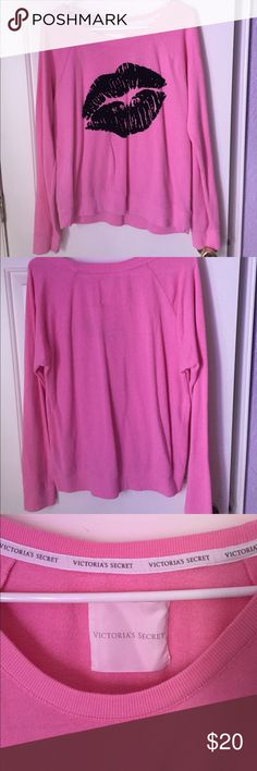 2 cute Victoria Secret sweaters 2 VS sweaters both pink and black perfect for chilly days that are coming! Victoria's Secret Sweaters Crew & Scoop Necks