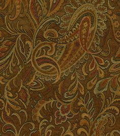 This item is sold by the yard Add lovely designs to your home decor with the Richloom Studio Danegeld Chestnut fabric. This fabric comes in beautiful prints to make wonderful cushion covers, curtains