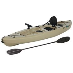 Choose this Lifetime Muskie Angler Kayak with Padded Back and Paddle is  perfect for those wanting to fish 5a66c99da6e6a