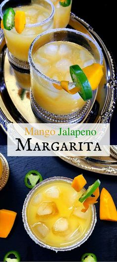Mango Jalapeno Margarita Sweet with a twist of spiciness is what makes this margarita the star of any party. The combination of mango, jalapeno and tequila adds just the right kick to put you in a merry mood. Make this for your friends & family on this Beste Cocktails, Fun Cocktails, Summer Drinks, Fun Drinks, Cocktail Drinks, Mexican Cocktails, Spicy Drinks, Colorful Cocktails, Party Drinks