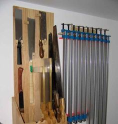 Now that I have some saws worth having (Medallion Tools.) and more on the way, it was time to build a saw till. My needs are rela. Woodworking Hand Saws, Woodworking Shop, Woodworking Crafts, Shop Storage, Garage Storage, Garage Tools, Storage Racks, Garage Ideas, Workshop Organization
