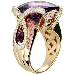 Amethyst, Pink Sapphire and Diamonds